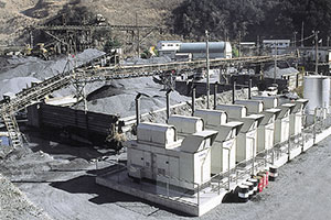 砕石プラント 常用発電機設備